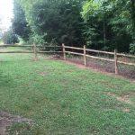 round wood fence
